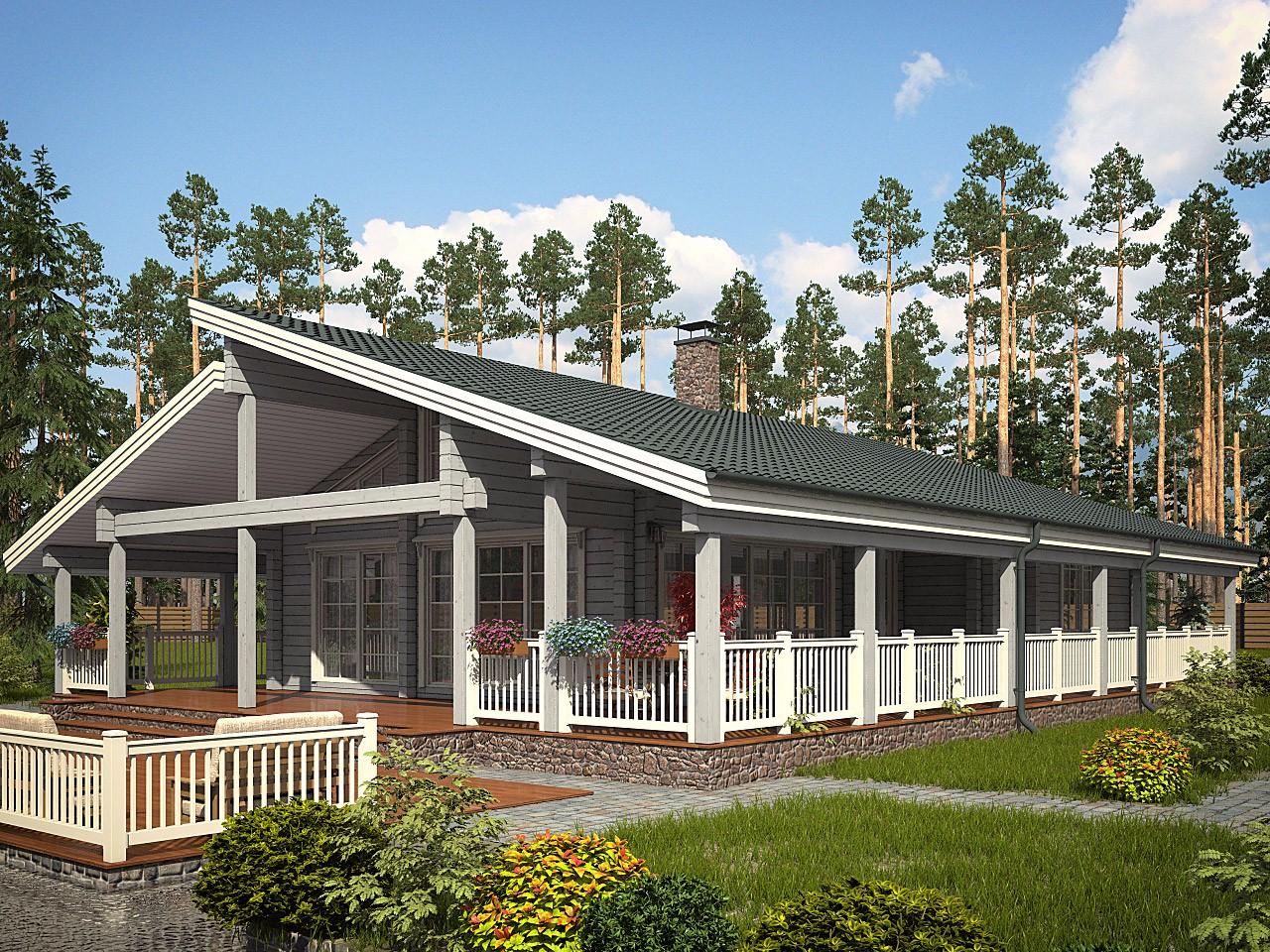 одноэтажные финские дома из клееного бруса фото нём можно